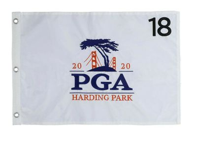 2020 PGA Championship embroidered golf pin flag (Collin Morikawa wins first major title)