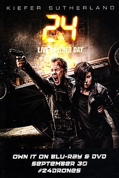 24 Live Another Day 2014 Comic-Con 4x6 promo card (Kiefer Sutherland)