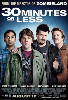 30 Minutes or Less movie 4x6 promo card (Jesse Eisenberg Nick Swardson)
