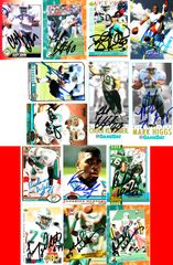 32 Miami Dolphins autographed cards (Roy Foster Keith Sims Troy Vincent Richmond Webb)