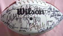 39 NFL greats autographed football Lance Alworth George Blanda Jim Brown Dan Marino Ray Nitschke Junior Seau Emmitt Smith Derrick Thomas
