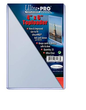 4x6 inch card or photo topload plastic display holders (pack of 25)