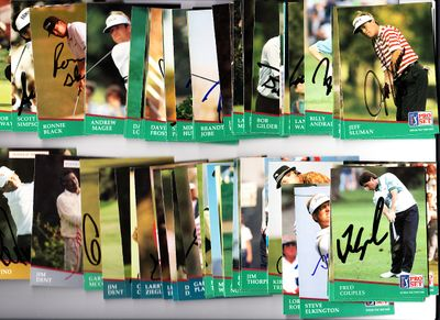76 autographed 1991 Pro Set PGA Tour golf cards Fred Couples Ben Crenshaw Gary Player Nick Price Lee Trevino