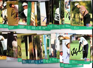 76 autographed 1991 Pro Set PGA Tour golf cards Gay Brewer Fred Couples Ben Crenshaw Gary Player Nick Price Lee Trevino