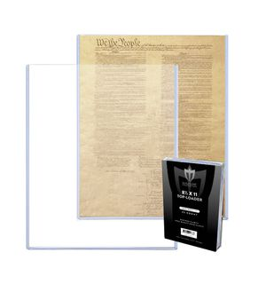 8 1/2 x 11 inch document or photo topload plastic display holder