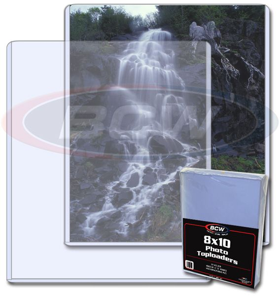 8x10 inch photo topload plastic display holder