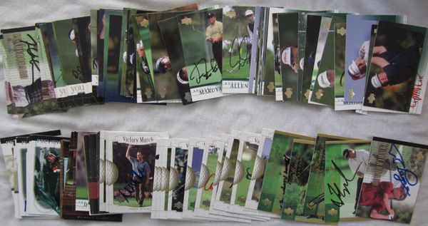 104 autographed 2001 Upper Deck PGA Tour golf cards Fred Couples John Daly Nick Faldo Ray Floyd Gary Player Nick Price Ken Venturi
