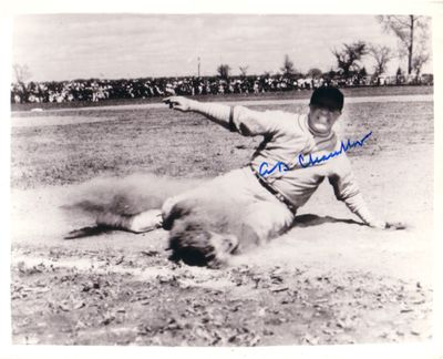 A.B. Happy Chandler autographed 8x10 action photo