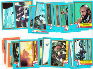 A-Team lot of 22 assorted 1983 Topps trading cards