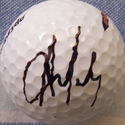 Aaron Baddeley autographed golf ball
