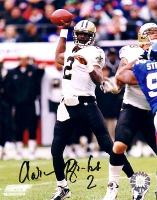 Aaron Brooks autographed New Orleans Saints 8x10 photo