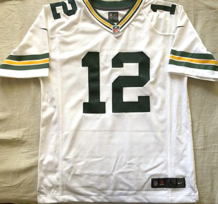 Aaron Rodgers Green Bay Packers authentic Nike stitched white YOUTH LARGE jersey