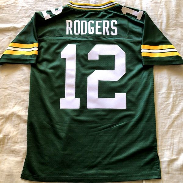 Aaron Rodgers Green Bay Packers authentic NFL Pro Line stitched green YOUTH LARGE jersey