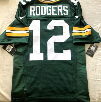 Aaron Rodgers Green Bay Packers authentic Nike Elite green game model jersey NEW WITH TAGS