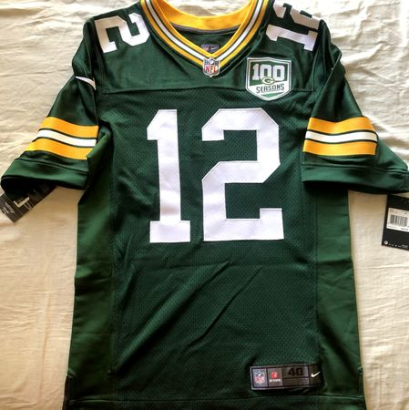 Aaron Rodgers Green Bay Packers 2018 authentic Nike Elite green game model jersey NEW WITH TAGS