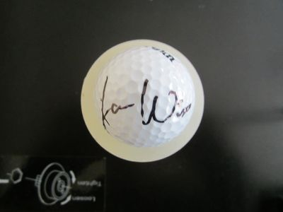 Aaron Wise autographed golf ball