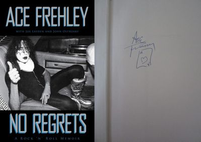 Ace Frehley (KISS) autographed No Regrets hardcover book