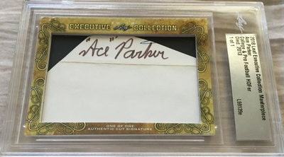 Ace Parker 2018 Leaf Masterpiece Cut Signature certified autograph card 1/1 JSA