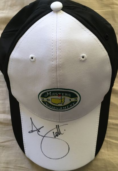 Adam Scott autographed 2013 Masters black and white golf cap or hat