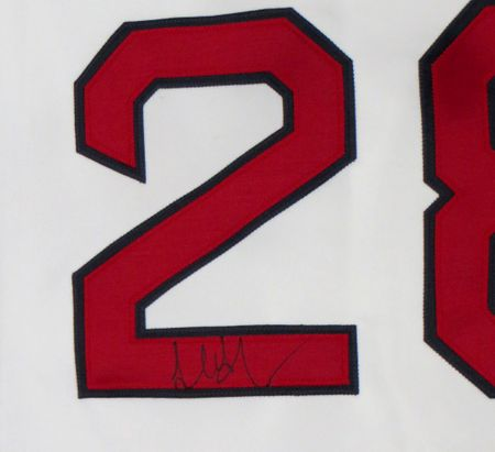 Adrian Gonzalez autographed Boston Red Sox authentic Majestic home white jersey