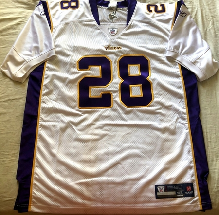 Adrian Peterson Minnesota Vikings 2006 to 2011 authentic Reebok game model double stitched jersey NEW