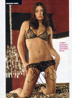 Adrianne Curry autographed Maxim magazine full page lingerie photo