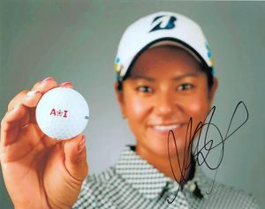 Ai Miyazato autographed 8x10 photo holding golf ball
