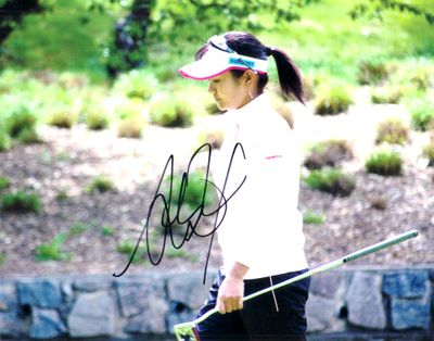 Ai Miyazato autographed 8x10 photo walking with putter