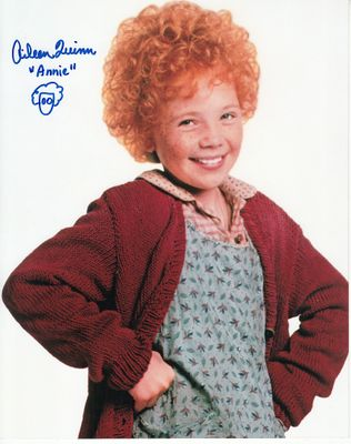 Aileen Quinn autographed Annie 8x10 movie photo
