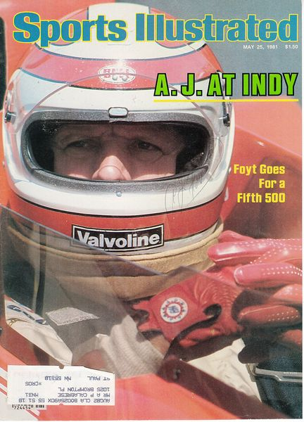 A.J. Foyt autographed 1981 Sports Illustrated cover