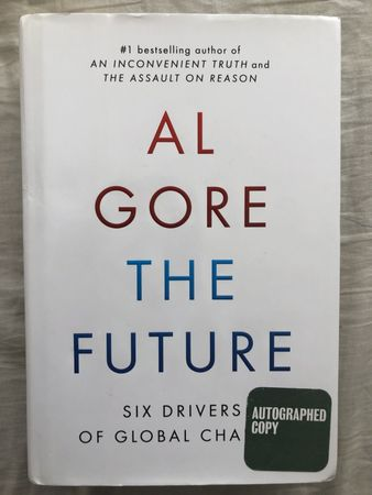 Al Gore autographed The Future hardcover first edition book