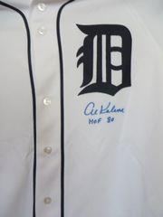 Al Kaline autographed Detroit Tigers authentic Majestic jersey inscribed HOF 80