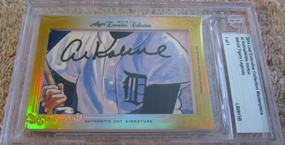 Al Kaline and Willie Horton 2014 Leaf Masterpiece Cut Signature certified autograph 1/1 card JSA 1968 Tigers