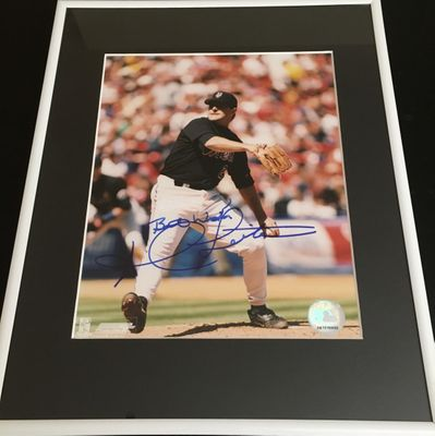 Al Leiter autographed New York Mets 8x10 photo inscribed Best Wishes matted and framed