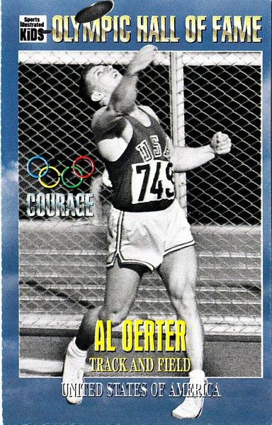 Al Oerter Olympic Hall of Fame 1996 Sports Illustrated for Kids card