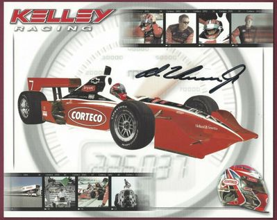 Al Unser Jr. autographed 8x10 photo card