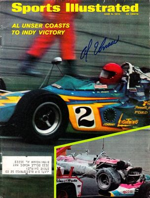 Al Unser Sr. autographed 1970 Indianapolis 500 Sports Illustrated magazine