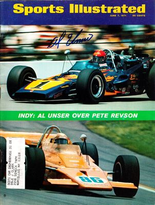 Al Unser Sr. autographed 1971 Indianapolis 500 Sports Illustrated magazine