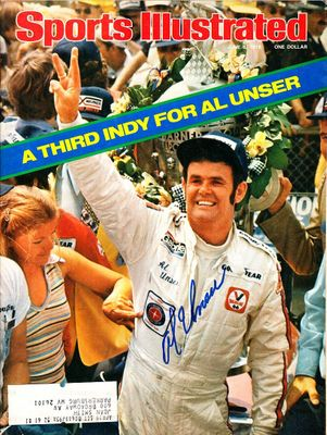 Al Unser Sr. autographed 1978 Indianapolis 500 Sports Illustrated magazine