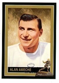 Alan Ameche Wisconsin Badgers 1954 Heisman Trophy winner card