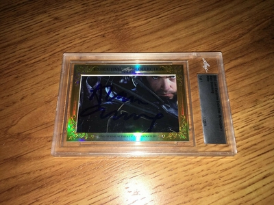 Alan Cumming 2015 Leaf Masterpiece Cut Signature certified autograph card 1/1 Good Wife JSA