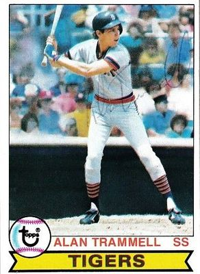 Alan Trammell autographed Detroit Tigers 1979 Topps second year card