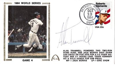 Alan Trammell autographed Detroit Tigers 1984 World Series Gateway cachet