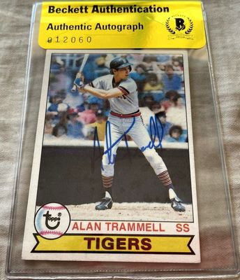Alan Trammell autographed Detroit Tigers 1979 Topps second year card (BAS authenticated)