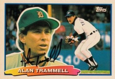 Alan Trammell autographed Detroit Tigers 1988 Topps Big card