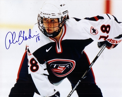 Alana Blahoski autographed 1998 USA Women's Hockey Team 8x10 photo