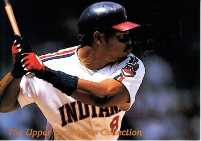 Albert Belle Cleveland Indians 1993 Upper Deck Iooss Collection jumbo insert card #5420/10000