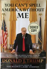 Alec Baldwin autographed You Can't Spell America Without Me hardcover first edition book