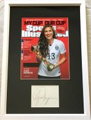 Alex Morgan autograph matted & framed with 2015 Women's World Cup Sports Illustrated cover