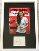Alex Morgan autograph matted and framed with 2015 Women's World Cup Sports Illustrated cover